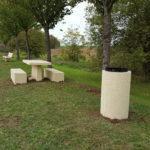 mobilier urbain commune ville amenagement espaces publics bois clotures